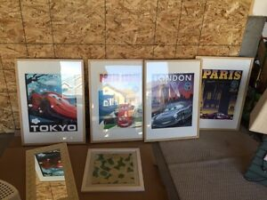 4 large framed Cars 2 posters