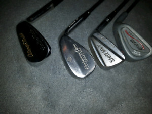 VINTAGE GOLF CLUBS NORTHWESTERN CAMPBELL CANADA PROFESSIONAL OPE