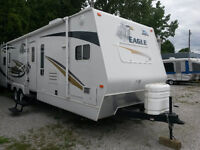 2007 JAYCO EAGLE 322FKS TRAVEL TRAILER RV, FIBREGLASS, 2 SLIDES