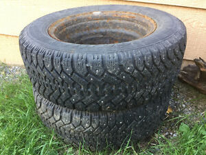 Studded Tires for sale with rims (2 Tires)