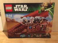 Lego Star Wars Jabbas Sail Barge set number 75020. Discontinued set. Brand new