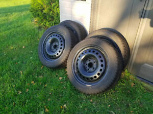 GT Radial 225/50 R17 98V XL Winter Tires with Steel Rims