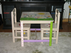 Child's Sturdy Table Set