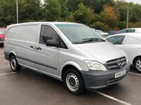 2014/64 MERCEDES BENZ VITO 113 CDI LWB-MET SILVER-6 DOORS-2.1 CDI 6 SPEED-NO VAT