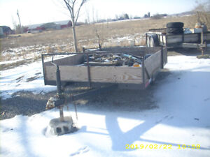 9' long Utility Trailer. Good low bed.