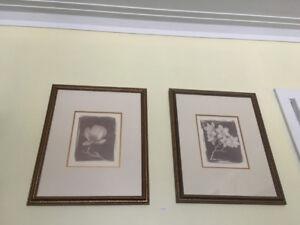Ensemble de cadres motif Magnolia - (collection Bombay)