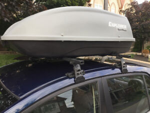 SportRack XL cargo BOX set with complete roof RACK system