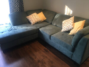 Beautiful cozy suede sectional