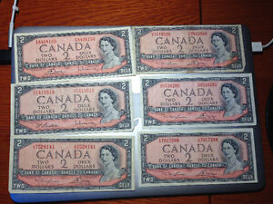 Lot of 1954 Banknotes West Island Greater Montréal image 3