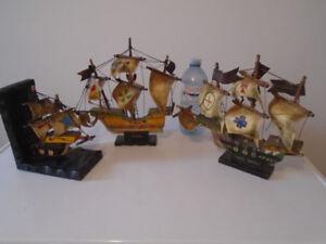 Vintage Wooded Model Ships
