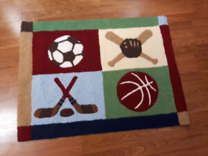 Sport theme rug for sale