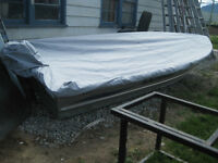 12' aluminum boat cover - MINT