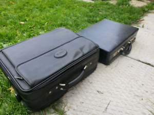 Suitcase and briefcase