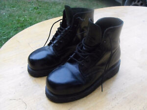 Black Leather Womens Army Boots