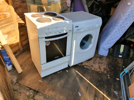 Hotpoint cooker and washing machine for sale