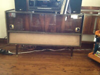 Mid-Century Sideboard w/ stereo + record player