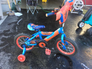 Kids spider man bike