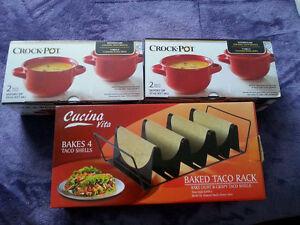 Taco Stand, Crock Pots