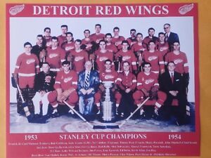 1953-54 Detroit Red Wings 10 X 8 Team Photo