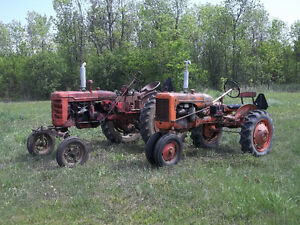Allis Chalmers C and Farmall Super C