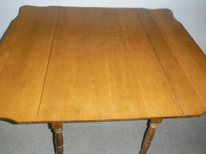 Antique Solid Wood Drop-leaf Dining Table, Delivered