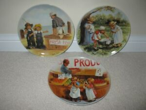 "3 collector Plates from the ""Friends I Remember"" Series"