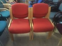 Red reception chairs