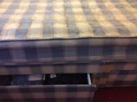 Double divan base units & mattress