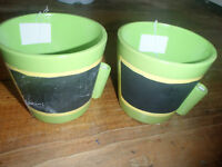 BRAND NEW CHALK PLANTING/STORAGE POTS