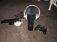 xbox 360 with accessories and games