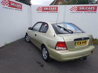2000 HYUNDAI ACCENT 3DOOR 1.3i.GREAT COLOUR.LOW INSURANCE,PRIVATE PLATE INCLUDED