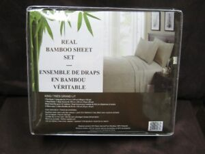 real bamboo king size chocolate colored sheet set.100% brand new