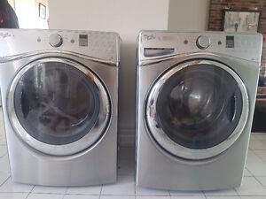 H E Whirlpool  duet dryer and washer machines
