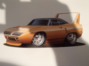 "1970 PLYMOUTH SUPERBIRD ORANGE WALL ART PICTURE 11"" X 8.5"""