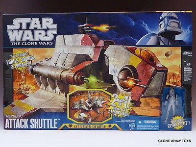 STAR WARS Republic Attack Shuttle GUNSHIP ELECTRONIC CLONE WARS TCW PRE IMPERIAL
