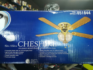 "Harbor Breeze 52"" Chesire Ceiling Fan w Light"