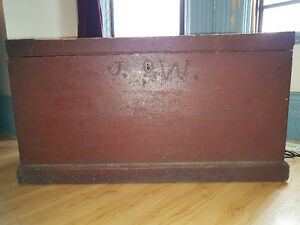 Antique Trunk with candle box