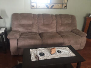 Beige Reclining Couch