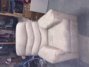 New tan ultra suede recliner for sale