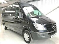 MERCEDES-BENZ SPRINTER 63,000 2.1TD 313CDI LWB BLACK LOW MILES SAT NAV AIR CON