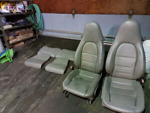 2001 996 Porsche Cabriolet Seats Front and Back