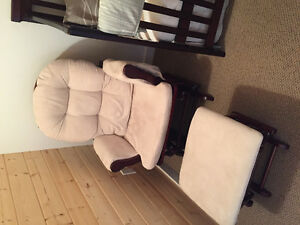 Glider rocker with foot stool