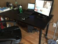 Office leather chair and work desk