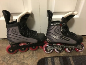 Boys Size 4 Bauer Vapor Hockey Boot Roller Blades