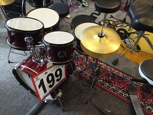 Used RB Junior 5 piece kit w/HW and cymbals