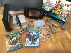 Wii U complète + 2 bons jeux pour enfants - 230$