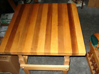 Butcher-Block table,      All Solid Wood