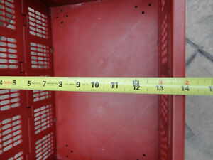 Red sturdy Collapsible Storage Crate -- In Excellent Shape Kitchener / Waterloo Kitchener Area image 5