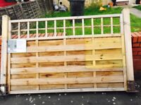 Fence panel with posts