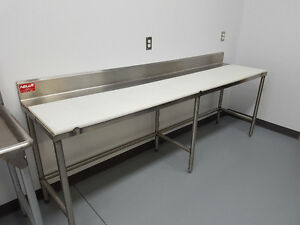Stainless Steel Food Prep Tables with Removable Cutting Boards
